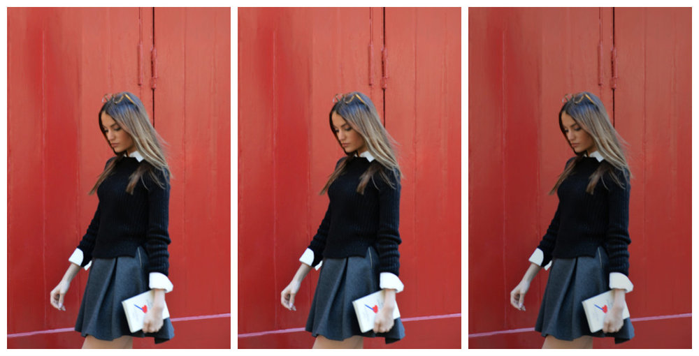 BACK TO SCHOOL: BLAIR WALDORF STYLE,UNIFORMS TRENDS BY MAUREEN SOPHIE KRAGT BLOGGER FROM THEVANILLAWOODS. SKIRT &WHITE SHIRT BY ZARA, SNEAKERS BY JIMMY CHOO