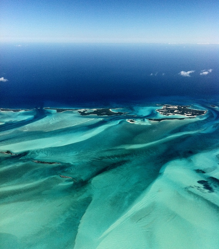 Exuma Cay, Bahamas. Aerial View. More on the www.thevanillawoods.com Fashion Blogger Maureen Sophie Kragt tells her story in the Cays. Tips and hangouts check out the post.