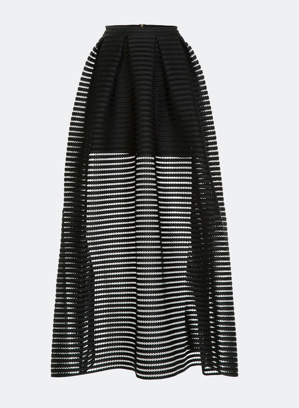 Totally involve with this Maje black skirt,
