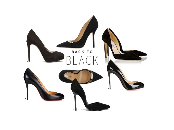 TrendyShoes: High Heel Black Pump 2015. From Louboutin, Jimmy Choo, Fendi, Vince Camuto and Dsquared2. Come Check out the latest styles on www.thevanillawoods.com by Blogger Maureen Sophie Kragt