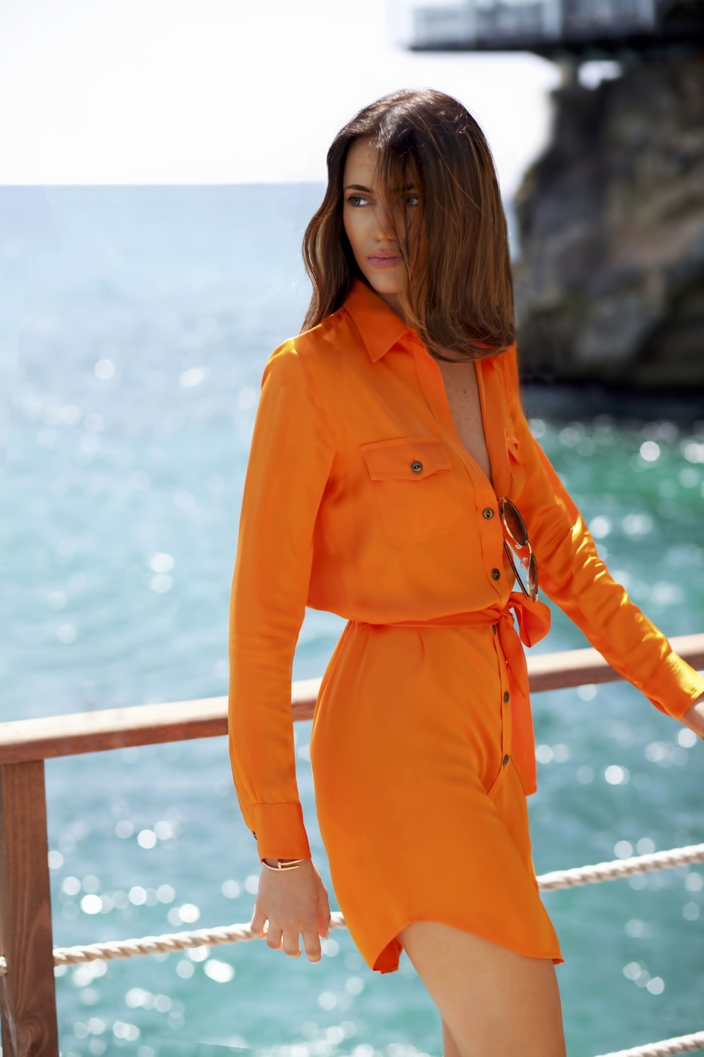 photo 1: TheVanillawoods Blogger Maureen Sophie Kragt is wearing a silk orange dress by Ralph Lauren in Monaco, For more visit the blog www.thevanillawoods.com.