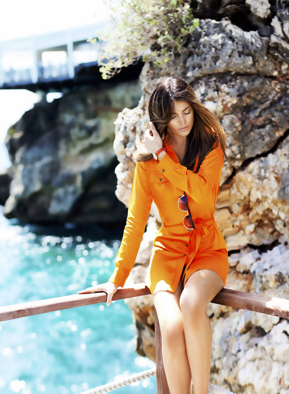 photo 3: TheVanillawoods Blogger Maureen Sophie Kragt is wearing a silk orange dress by Ralph Lauren in Monaco, For more visit the blog www.thevanillawoods.com.