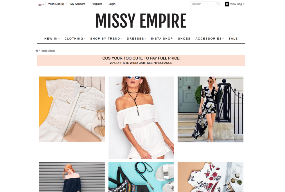 Maureen Kragt - Fashion influencer featured in INSTASHOP of MISSY EMPIRE.    UKBLOGGER LONDON BLOGGER MAUREEN KRAGT