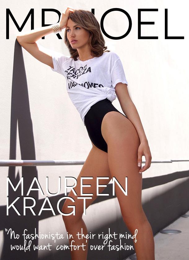 Maureen Kragt on the cover of Mr Joel, an influencer agency based in London. Mrjoel.co