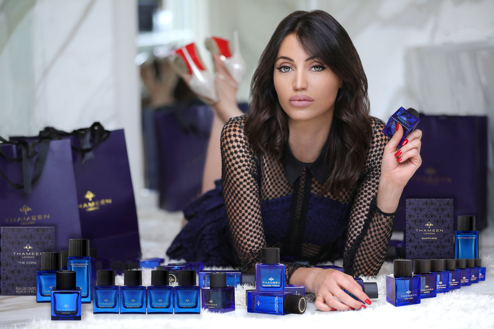 """Fashion and Lifestyle Influencer Maureen Kagt from Monaco poses for Thameen new scent """"the Cora""""    London, Blogger, UK blogger, Fashion Blogger, Maureen Kragt, Thameen Fragrances.    Read the full article on www.maureenkragt.com    (1)"""