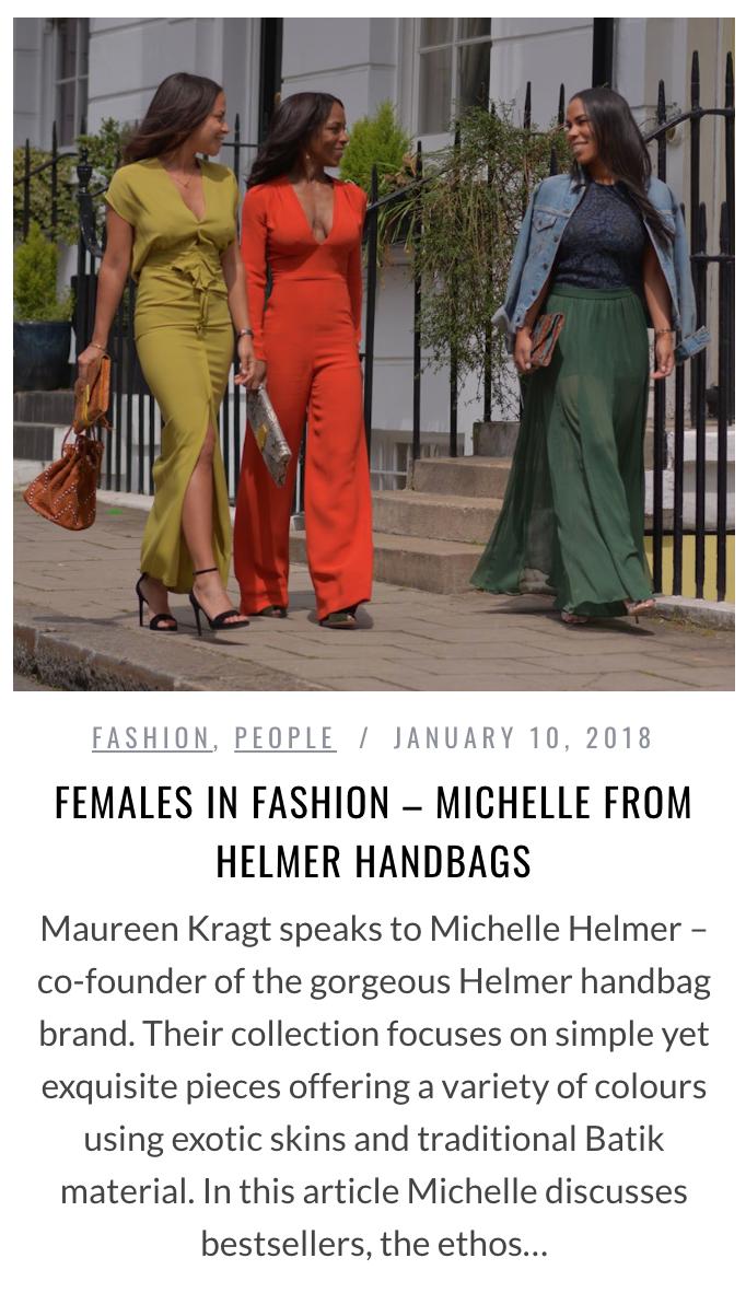 maureen kragt interviews helmer bags