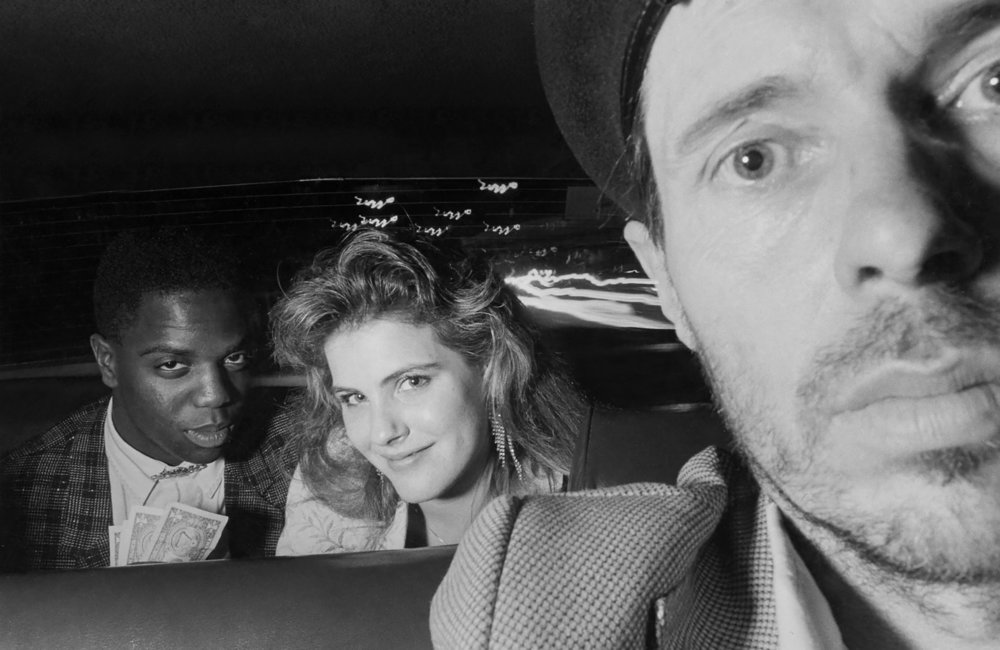 Selfie with passengers. New York. 1986. (Copyright Ryan Weideman, Courtesy Bruce Silverstein Gallery, New York)