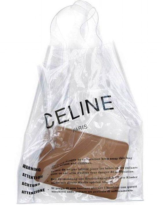 Celine Plastic Shopper 2018, $590,