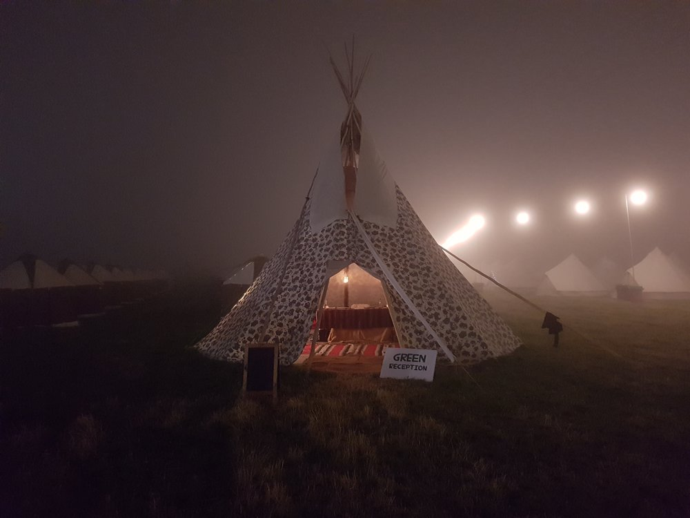 Tipi village reception