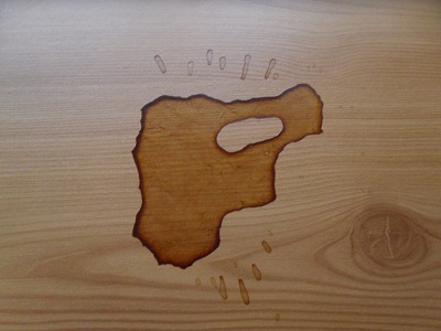 A home made coffee stain. I did it for science. I did it because I'm clumsy.
