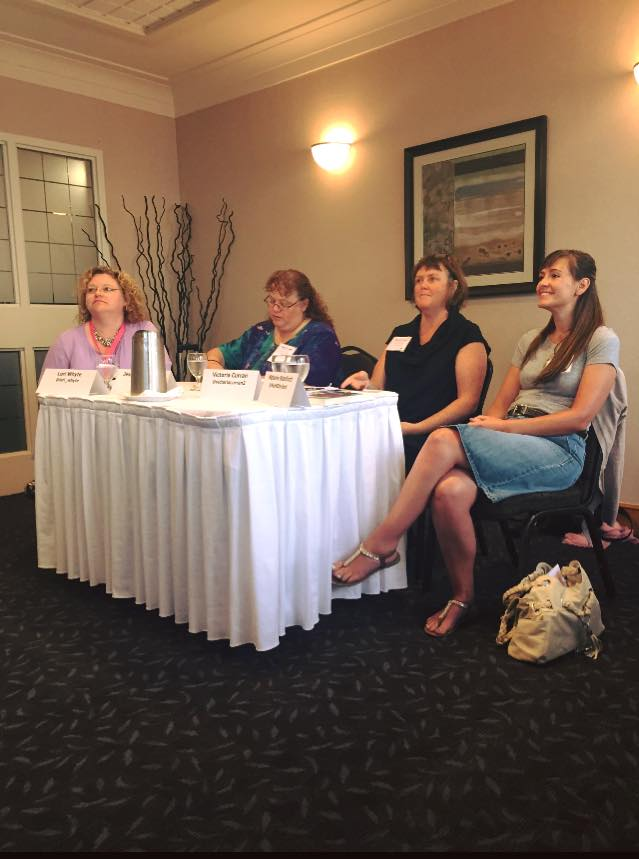 On a panel about romance heroines with authors Lori Whyte and Jessica L. Jackson, and Harlequin senior editor Victoria Curran