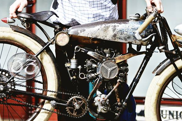 MAY 2015:  dWrenched features the Peugeot alongside other custom culture and crazy bikes, choppers and hot rods -