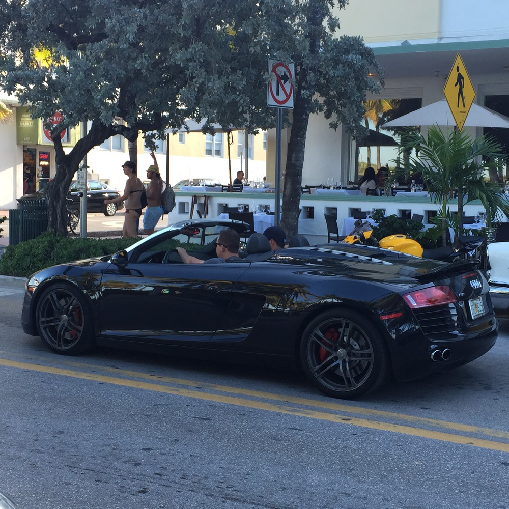 One of many: South Beach sports car edition.