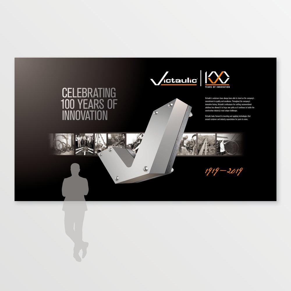 Victaulic | 100th Anniversary Airport Graphics