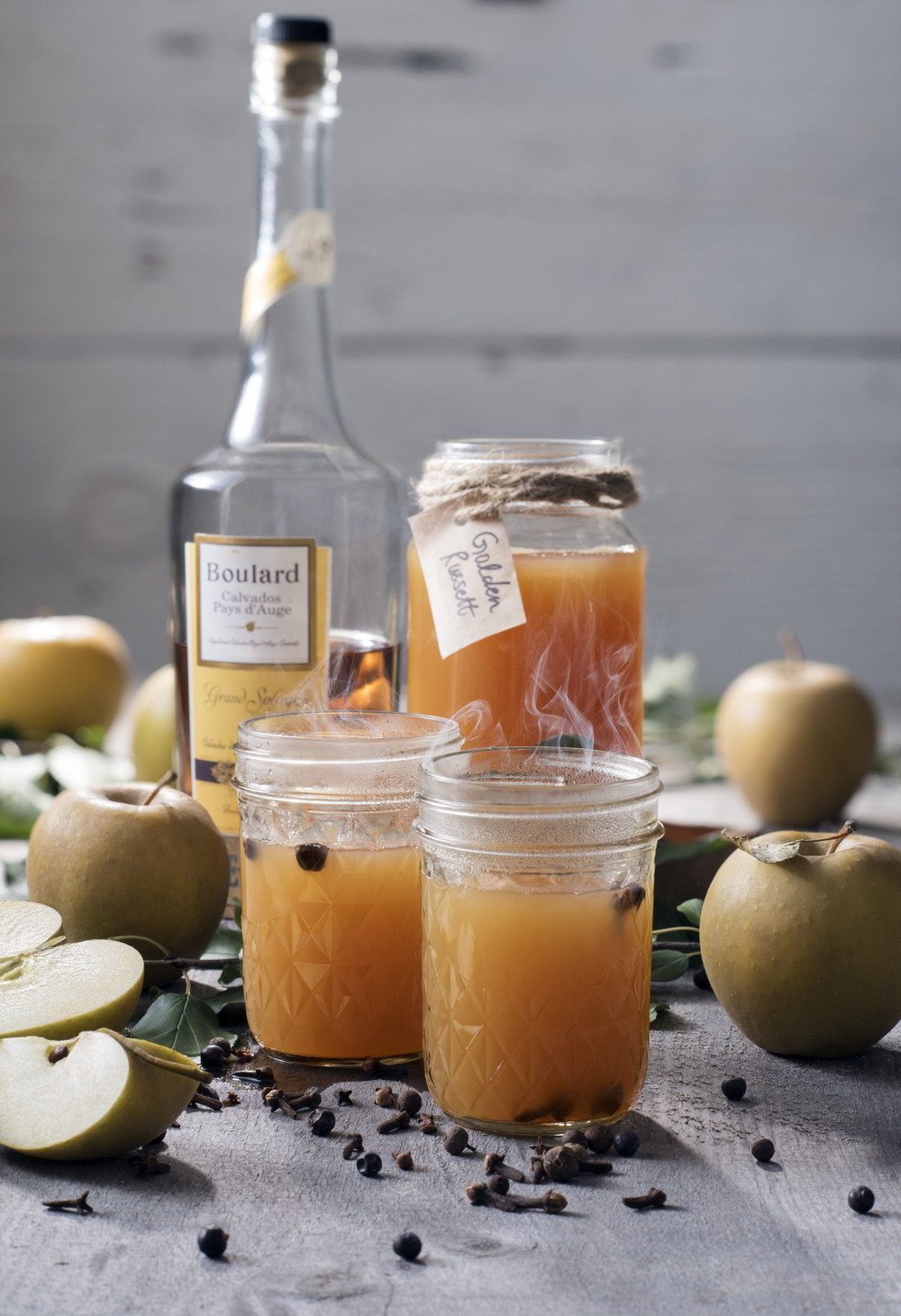 Calvados apple brandy cocktail