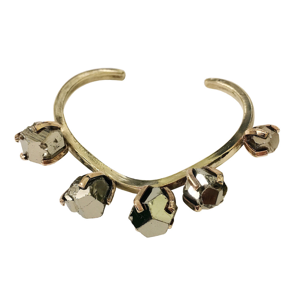 Pyrite and brass