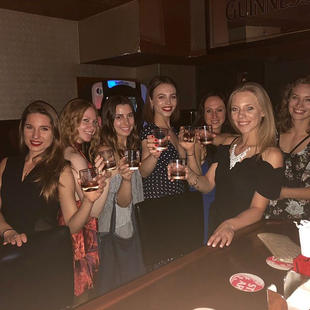 Happy birthday @missvaleriazhukova . Night out for the girls💃🏻 ..oh and @kylejohnson09 . A brave man! #shots #birthdaygirl #girlsjustwannahavefun #mdw
