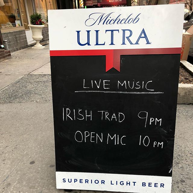LIVE MUSIC 🎶  9-12 tonight!! #music #irishmusic #uppereastside