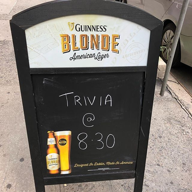 Trivia tonight @8.30. $50 cert for the winning team. Pop in for a little Monday fun #uppereastside #beer #trivia #trivianight