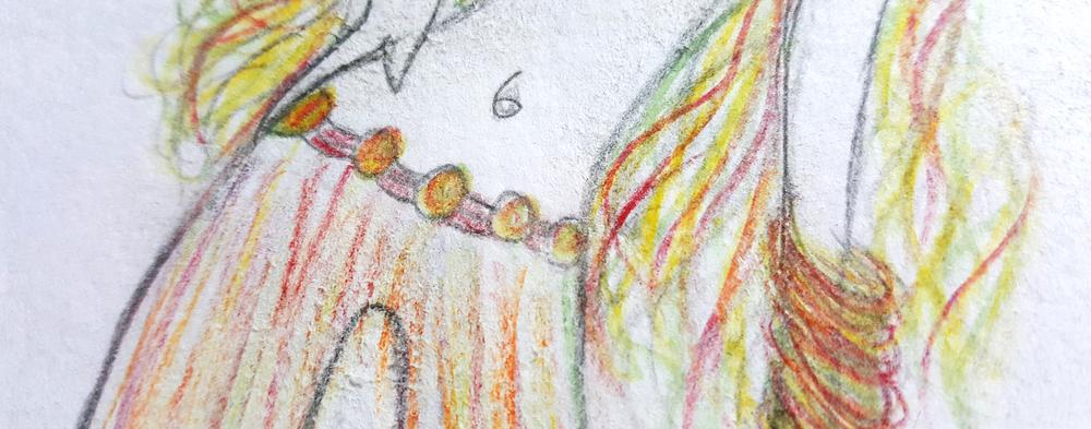 Umbigo ou onumeral 6? Detalhe de um desenho que fiz em 2001.