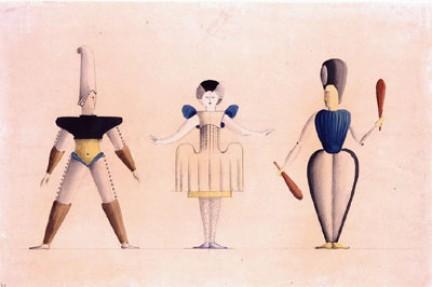 Alguns figurinos do Ballet Triádico