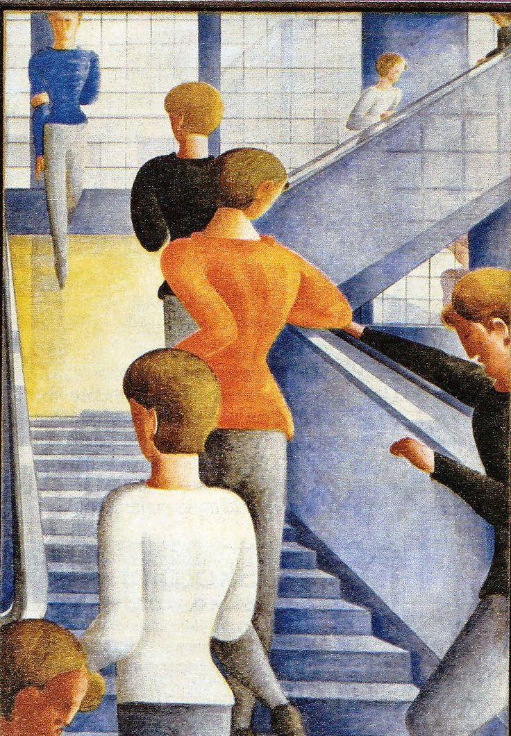 A tela 'Bauhaustreppe' (1932), de Oskar Schlemmer