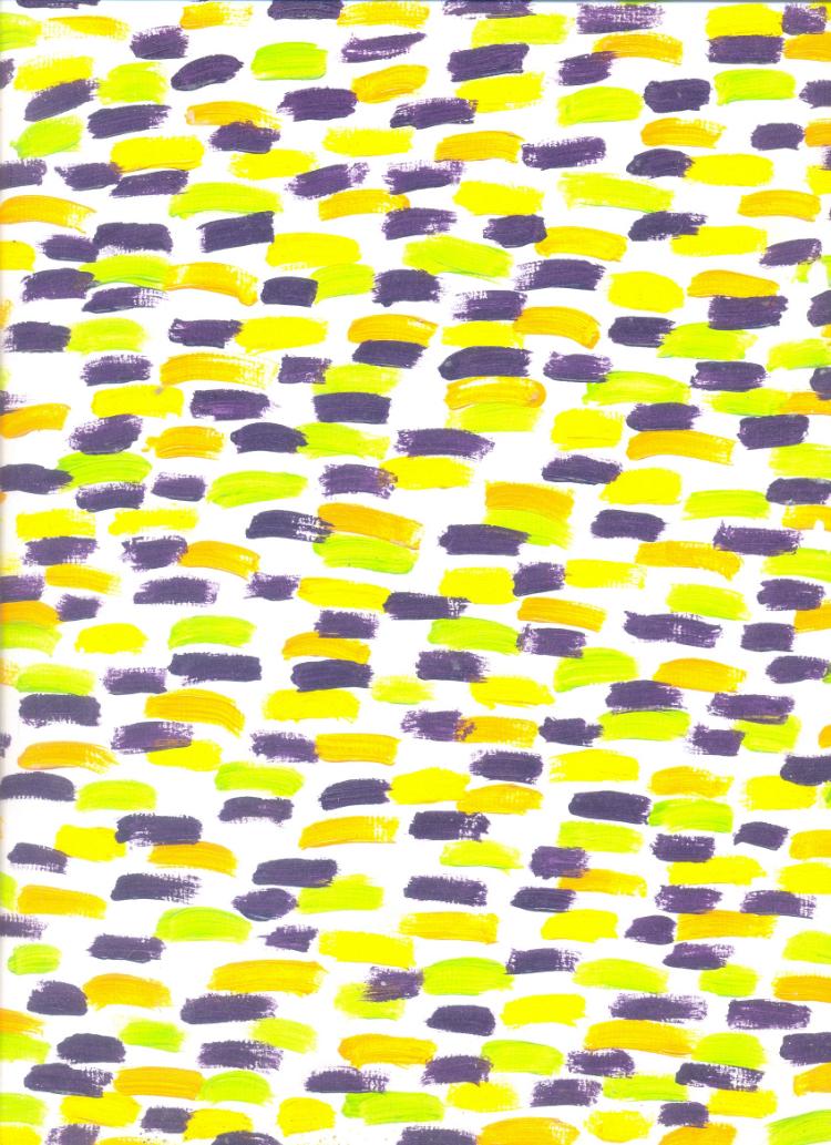 3.  Caminho de Tijolos Coloridos  (2001, óleo sobre papel)