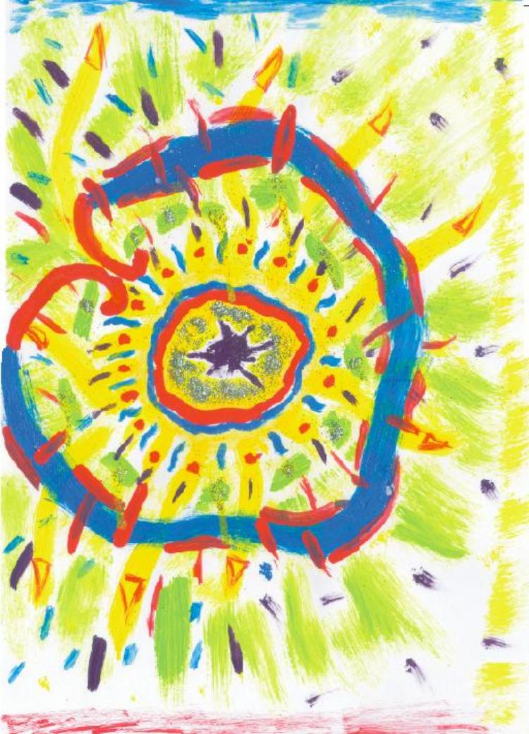 5.  Transbordância  (2005, óleo sobre papel)