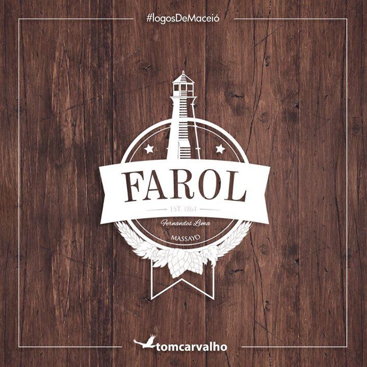 Farol, na parte alta da cidade