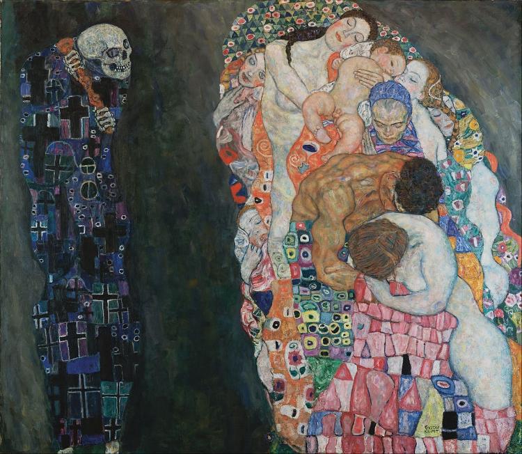 'Morte e Vida' (1916), de Gustav Klimt