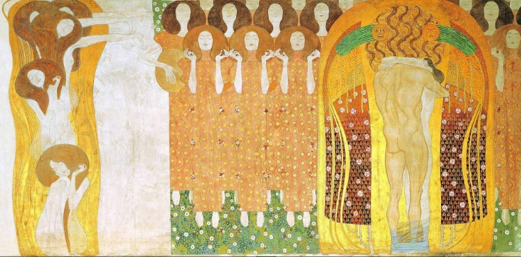 Detalhe de  'Friso de Bethoven'  (1902)  , de Gustav Klimt