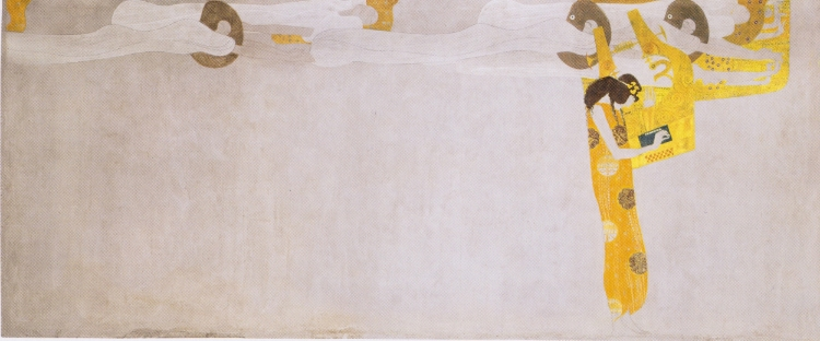 Outro detalhe de 'Friso de Bethoven' (1902)  , de Gustav Klimt
