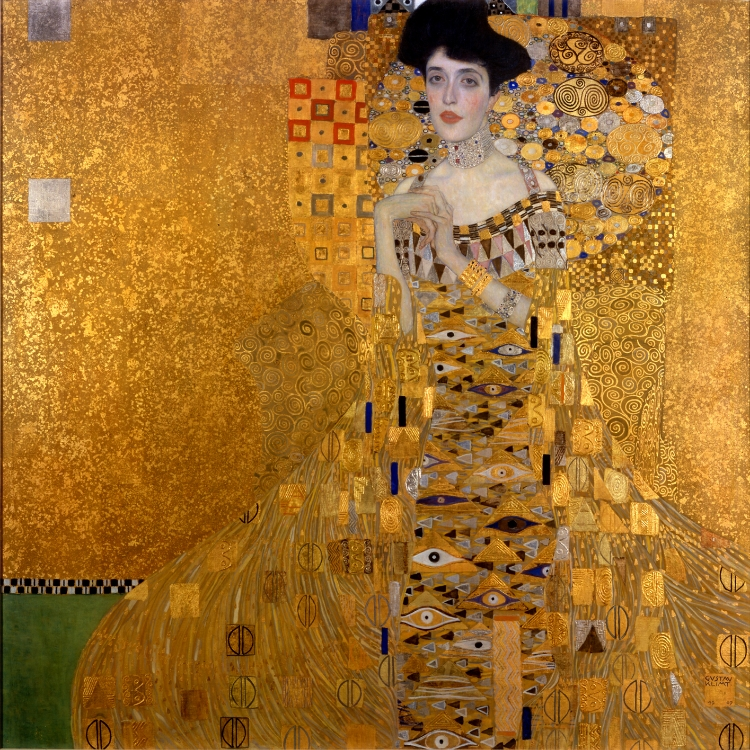 'Retrato de Adele Bloch-Bauer I'  (1907), de Gustav Klimt