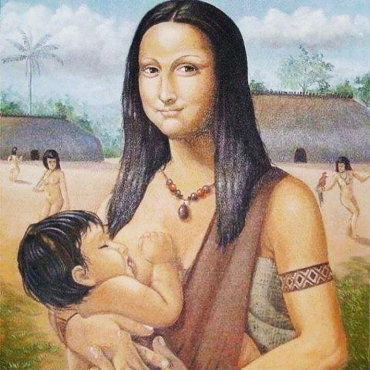 1 - Mona Lisa indígena, que motivou essa postagem. Infelizmente, até agora não consegui identificar o autor