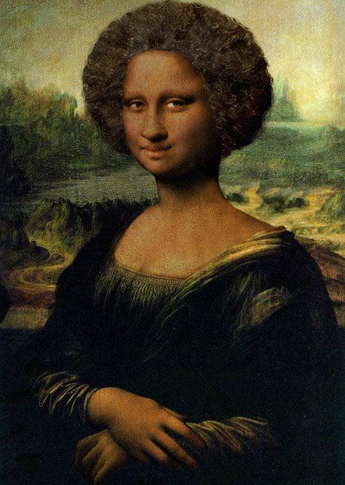 3 - A Mona Lisa de cabelo crespo
