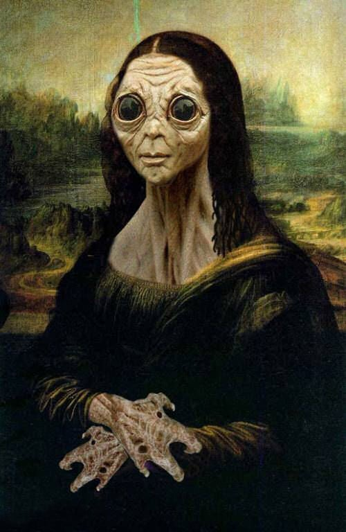4 - Mona Lisa alien