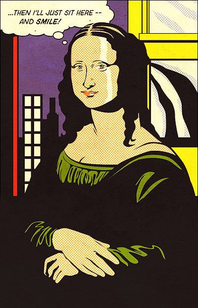7 - Mona Lisa no melhor estilo popart de Roy Lichstein