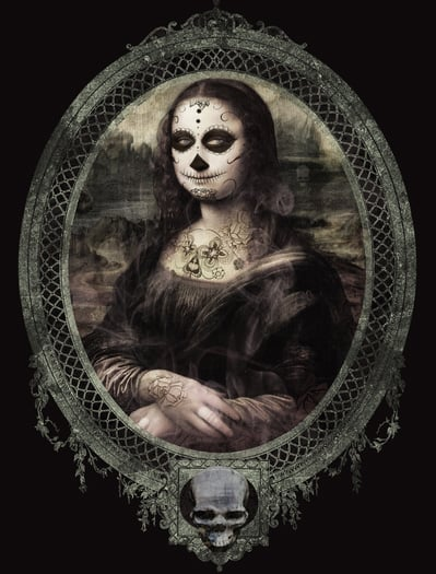20 - Mona Lisa de La Muerte, de Alexandre B. A.