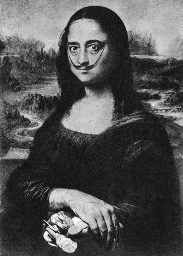 23 - Salvador Dali já foi Mona Lisa em 1954