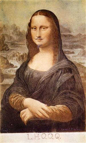 27 - A Mona Lisa de Marcel Duchamp é de 1919 e ganhou o título de  L.H.Q.O.Q   (Elle a chaud au cul) , algo como 'Ela tem fogo no rabo'