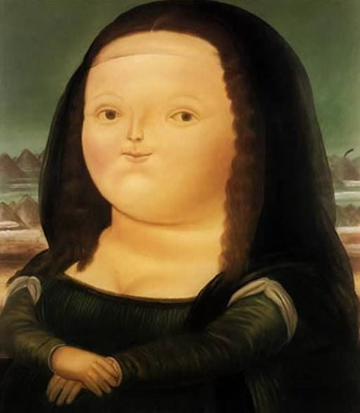 25 - A Mona Lisa gordinha, do colombiano Fernando Botero (1978)