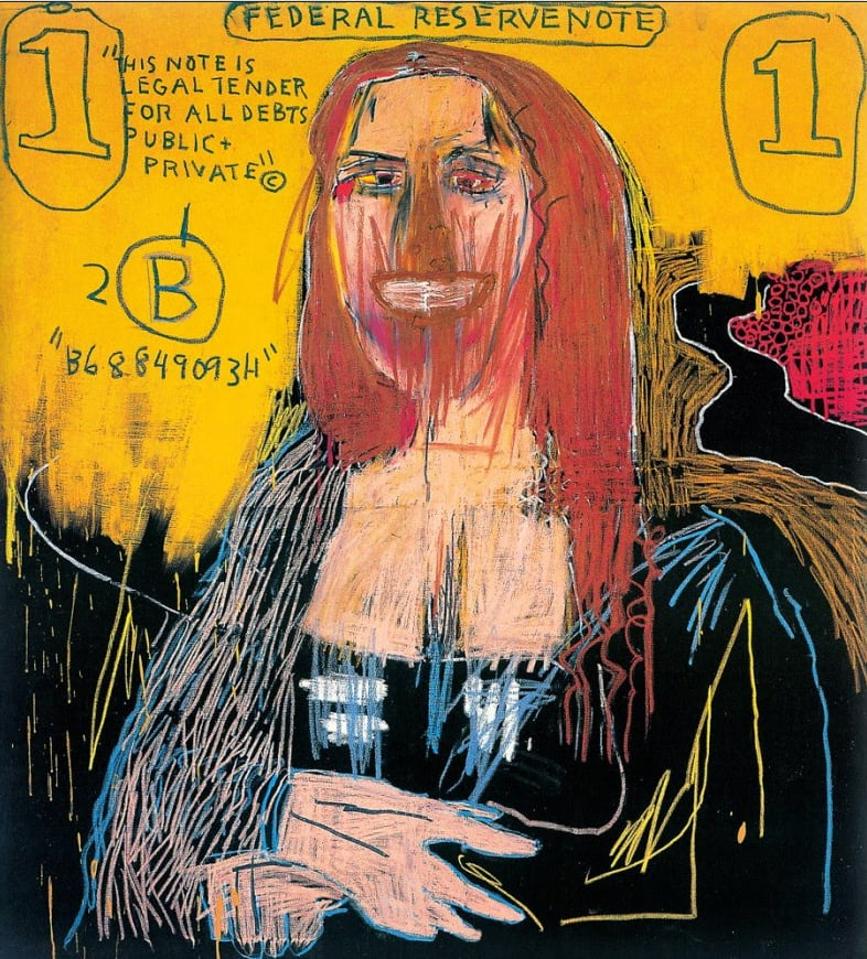 26 - A Mona Lisa de Jean-Michel Basquiat (1983)