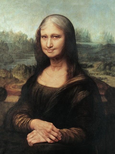 30 - A Mona Lisa idosa, do brasileiro Roberto Weigand