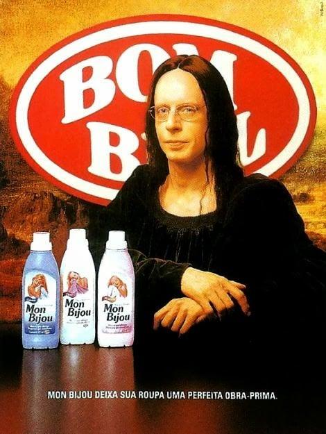 33 - A Mona Lisa garota propaganda da marca Bom Bril