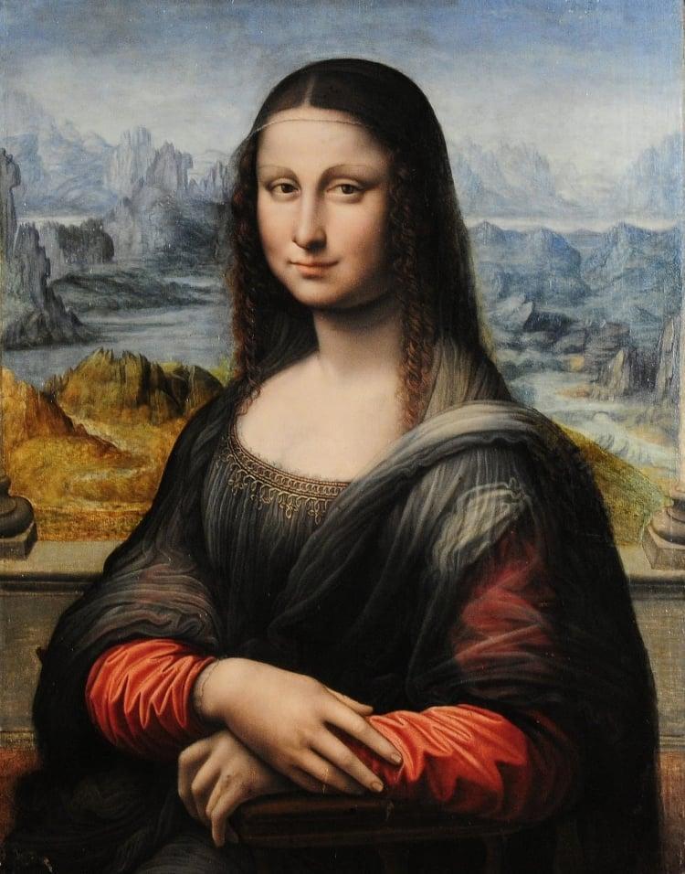 35 - E por último, uma Mona Lisa tão antiga quanto a original, descoberta há poucos anos e que teria sido pintada por um discípulo de Leonardo da Vinci, sob a supervisão do próprio mestre