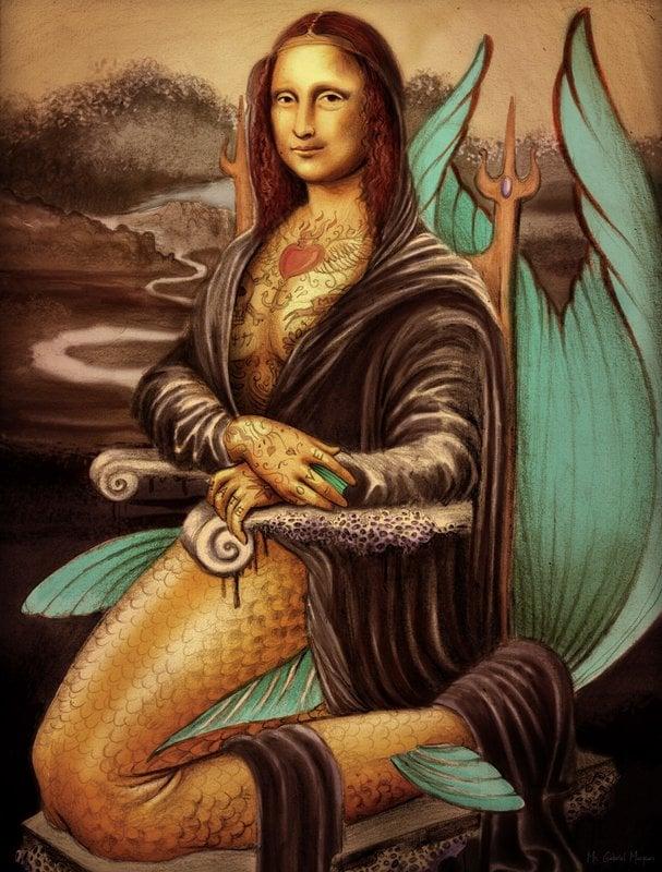 29 - A Mona Lisa seapunk.  'Merlisa' , de  Gabriel Marques