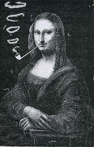 28 - Mona Lisa Fumant la Pipe  (1883), de Eugene Bataille