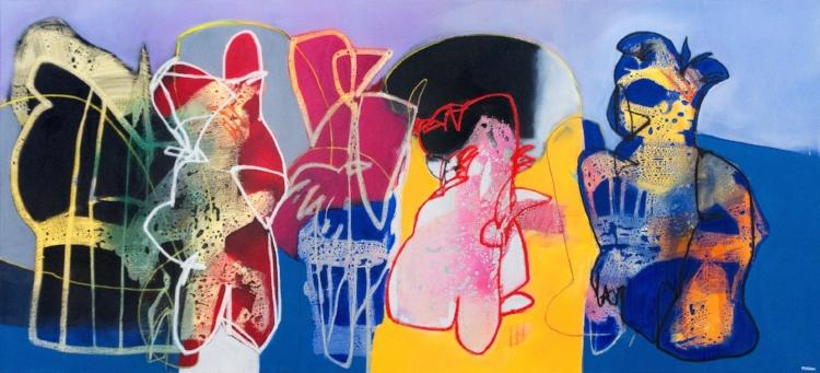 A arte de Pragana, autodidata, transita entre o figurativo e o abstrato