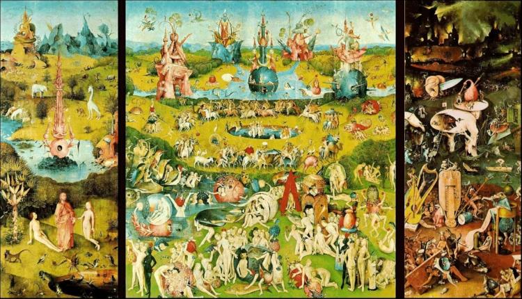2 -  'O Jardim das Delícias Terrenas'  (1504), do holandês Hieronymus Bosch