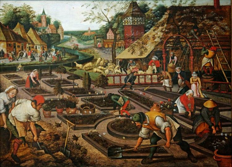 4 -  'Preparação dos Canteiros'  (1617), de Pieter Bruegel, O Jovem